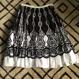 Dresses & Skirts - A-Line Tribal Skirt with Sequin Detail